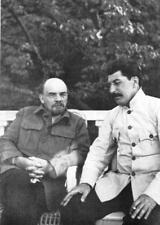 Stalin & Lenin Russian Soviet Communism 7x5 Inch Reprint Photo
