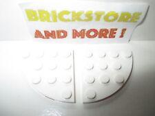 Lego - 2x Plaque plate 4x4 round corner rond 30565 White/Blanc/Weiss