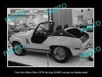 OLD HISTORIC PHOTO OF NEW YORK MOTOR SHOW 1970 JEEP XJ-001 CAR DISPLAY 1