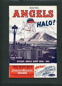 1965 Seattle Angels  PCL Baseball Sicks Stadium Vintage Scorecard Program 999330