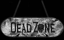 Dead Zone Warning Sign Halloween Party Decor Hanging Skull Wall Door Garden Home