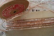 3y ANTIQUE FRENCH PAPER & LINEN PARCEL TWINE HABERDASHERY VINTAGE RIBBON TRIM