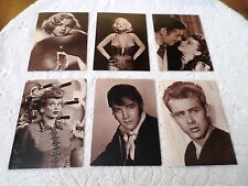 """LOT OF 6  POSTCARDS - 6 1/8"""" x 4 3/8"""" - LUDLOW SALES- MARILYN/ ELVIS / LUCILLE.."""