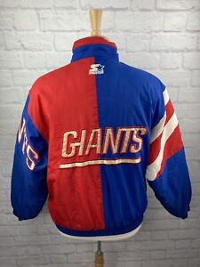 Vintage 90's New York Giants Puffy STARTER NFL Football Jacket Size Small