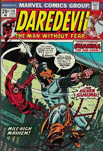 Daredevil (Vol.1) No.111 / 1974 Shanna the She-Devil / 1st App. Silver Samurai