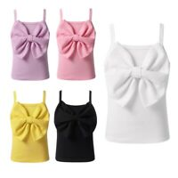 Kid Girl Spaghetti Shoulder Straps Tank Top Bowknot Camisole Summer Casual Party