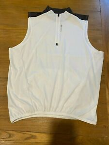 SUGOI Women Bicycle Cycling Jersey Size L WHITE sleeveless 1/4 zip pullover EUC