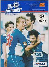 Orig.PRG   UEFA Cup  2001/02    HERTHA BSC BERLIN - VIKING STAVANGER  !!  SELTEN