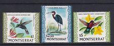 MONTSERRAT 1970 BIRDS DEFINITIVES $1 $2.50 $5 NEVER HINGED MINT