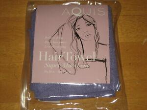 "New AQUIS Essentials Super Absorbent Microfiber Hair Towel 19"" x 39"" Pink Purple"