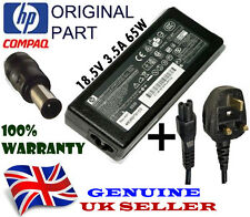Genuine Original HP Compaq 6500 , 6510b Charger Power Supply Adapter + UK Cable
