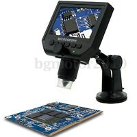 G600 Digital Portable HD 1-600x 3.6mp Microscope Continuous Magnifier 4,3'' LCD