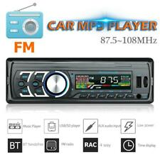 Single 1DIN Bluetooth Car Stereo Audio In-Dash FM USB MP3 Radio Music Player