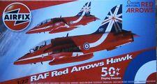 AIRFIX 1:72 RAF Red Arrows Hawk Model Kit Plane A02005B NEW