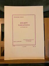 Jean-Michel Damase 17 variations pour quintette a vent partition Leduc