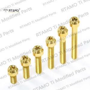 RTAMO | M6x10—120mm 1.0P Gr5 Titanium Alloy Hot Forged T30 Rolled Bolt
