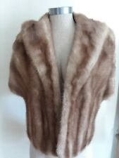 1950s 1960s Vintage Mink Fur Stole Collar Prom Wedding Excellent Condition