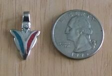 Arrowhead Silver Plated Pendant w/ Turquoise & Coral