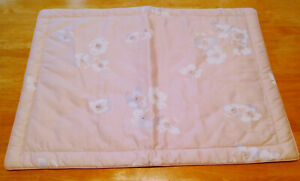 Pink Sateen Floral Small Sized Zippered Sham (1)  Fits Pillow 22.5 x 15.5 New