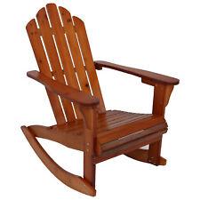 Sunnydaze Outdoor Wooden Adirondack Rocking Chair - Brown