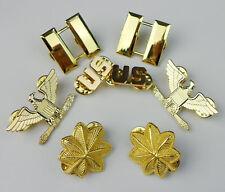U.S. CAPTAIN MAJOR COLONEL RANK BADGE INSIGNIA US MILITARY LAPEL PINS GOLDEN