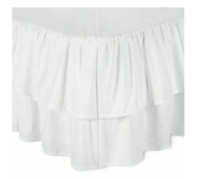 """Simply Shabby Chic Double Ruffle Bed skirt, KING, 15"""" Drop, NEW"""