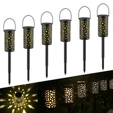 Solar Garden Lights Outdoor,Tomshine 6 Pack Star Moon Solar Lights Stake with...