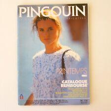 Ancien catalogue de Tricot PINGOUIN n°114 Année 90  - Modèles Printemps