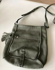 Sanctuary Cross Body Soft Leather Olive Green Bag