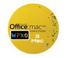 MICROSOFT OFFICE 2011 HOME & STUDENT WORD EXCEL POWER POINT OUTLOOK 3 MAC