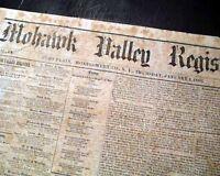 Rare FORT PLAIN NY Montgomery County New York 1863 Civil War Era Newspaper