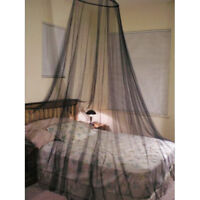 Black Mosquito Net Canopy Travel Insect Protect Single Entry Double King Size
