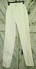 Vintage Roper Womens High Waisted Mom Riding Jeans Long Size 5/6 White Cotton