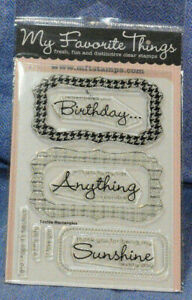 My Favorite Things Clear Stamps: DC Textile Rectangle Sentiments