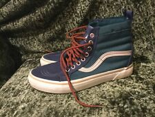 Vans Ultracush Slip Resistant Blue Green High Top Lace Rare Material Shoes 8