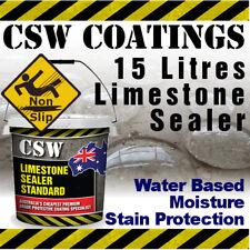 15L Limestone Sealer - Moisture Stain Protection - Non Slip - Water Based