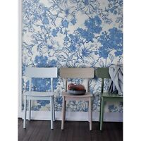 Non-Woven wallpaper Summer bouquet Blue floral Traditional art Home Mural Decor
