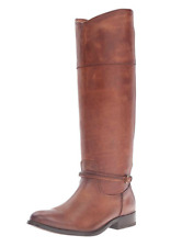 4*08 NEW Frye Melissa Seam Cognac Leather Tall Boots Women's Size 7.5 M