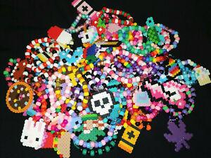 6 Lot Handmade Perler Kandi Bracelets EDM EDC Festival Rave Dance FREE SHIPPING