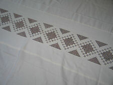 ESTATE-Exquisite Antique VTG Norwegian Hardanger TableCloth~Banquet Size~70x96