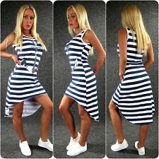 ANKER Sommerkleid Jerseykleid XS S M L Zazou Maritim Vokuhila Kleid Marine 4