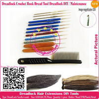Dreadlocks COMB+Dread Crocet HOOK make repair Maintenance Dread lock extenision