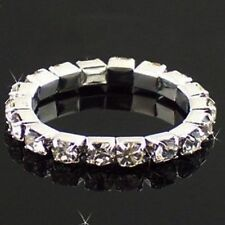 Stretch Elastic Finger Rhinestone Paved Ring Accessories Jewelry