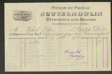 """NIMES (30) VETEMENTS sur Mesure """"MAISON DU PHENIX / JOUVE & MOULIN"""" en 1922"""