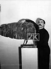 CESAR Sculpteur VALENTIN 3 Sculpture Léo Homme Oiseau Photo 1950s #2
