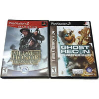 PS2 Playstation Ghost Recon Advanced Warfighter Medal Of Honor Frontline 2 Games