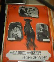 DICK UND DOOF jagen den Stier,Original Filmplakat A1,1960er Jahre NOS gerollt