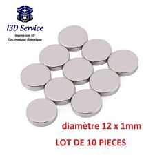 Set of 10 Magnets Neodymium round 0 15/32x0 1/32in - Force N35