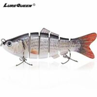 Hard Jointed Fishing Lure Multi Bait Swimbait Bass Life Like Minnow Lures Pike