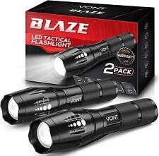 Vont LED Tactical Flashlight 2X Longer Battery Life High Lumen Waterproof 2-Pack